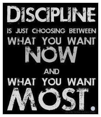 Discipline is…