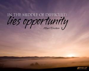 Einstein on Opportunity