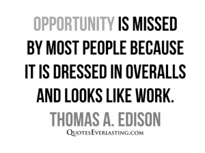 Opportunity is…